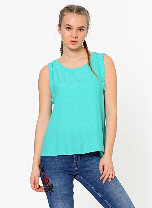 Vero Moda Kolsuz Bluz Yeşil